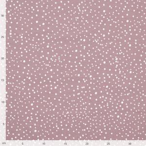 Jersey Mini Dots, altrosa hell/weiß