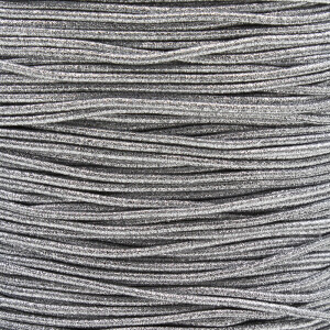 Gummikordel 2,2 mm, 3 Meter silber