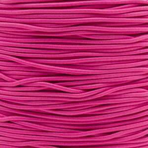 Gummikordel 2,2 mm, 3 Meter pink