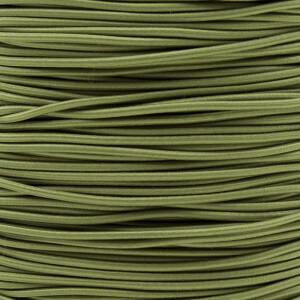 Gummikordel 2,2 mm, 3 Meter oliv