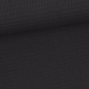 Waffelpique, schwarz