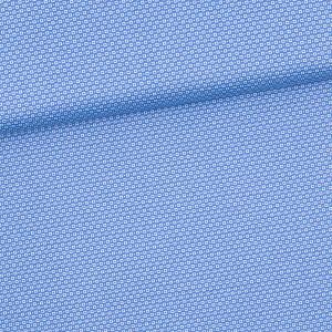 Baumwolle gemustert, hellblau/weiß