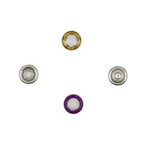 Jersey Druckknöpfe offen lila, 20 Stück, 11 mm