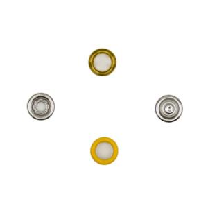 Jersey Druckknöpfe offen gelb, 20 Stück, 11 mm