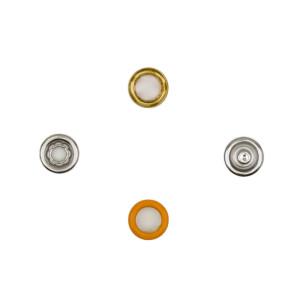 Jersey Druckknöpfe offen orange, 20 Stück, 11 mm