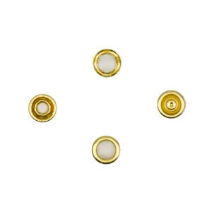 Jersey Druckknöpfe offen gold, 20 Stück, 11 mm