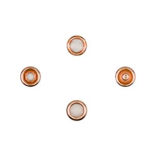 Jersey Druckknöpfe offen kupfer, 20 Stück, 11 mm