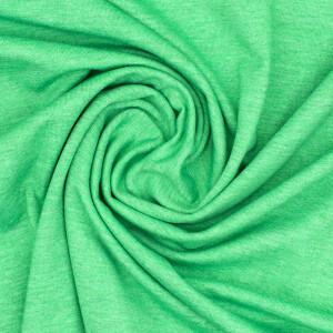 Jersey uni meliert, grün
