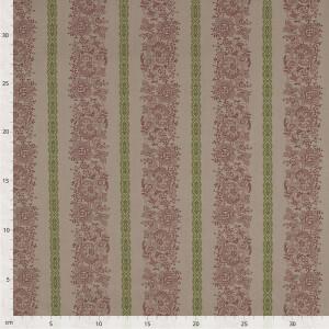 Baumwolle Blumenranken, hellbraun
