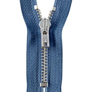 Opti Reißverschluss M40 Werra silber, jeansblau