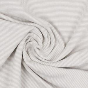 Ringelbündchen 1mm, sand/weiß