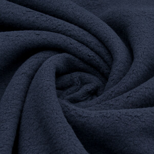 Antipilling Baumwollfleece, schwarz