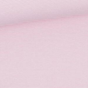 Ringelbündchen 1mm, rosa/weiß
