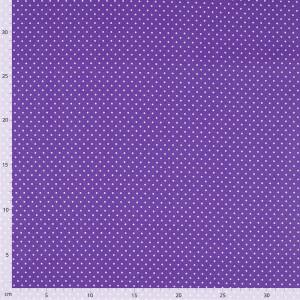 Baumwolle Punkte, violett/weiß