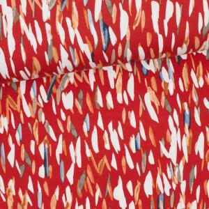 Viskosejersey Lines, rot