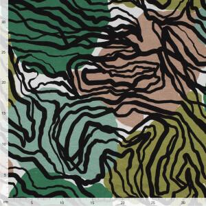 Viskosejersey Africa, grün/sand