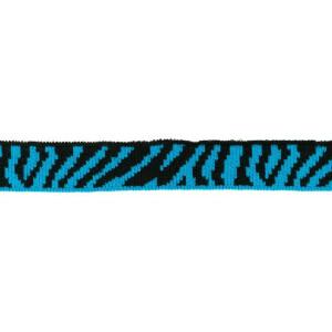 Mini Cuff Zebra, schwarz/blaupetrol
