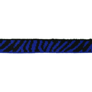 Mini Cuff Zebra, schwarz/kobaltblau