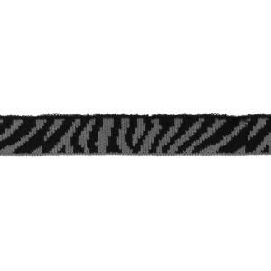 Mini Cuff Zebra, schwarz/grau
