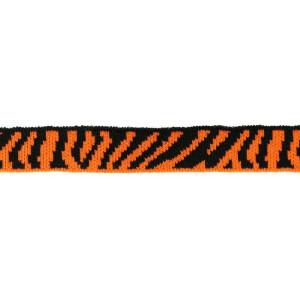 Mini Cuff Zebra, schwarz/orange