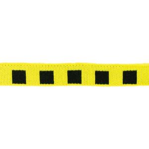 Mini Cuff Quadrat, schwarz/gelb