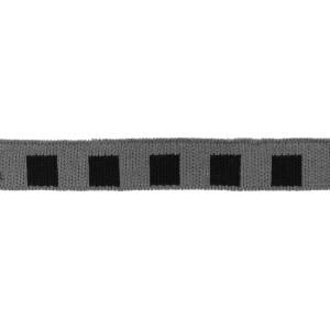 Mini Cuff Quadrat, schwarz/grau