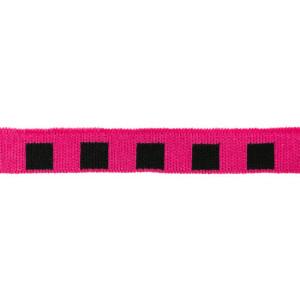Mini Cuff Quadrat, schwarz/pink