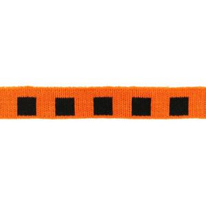 Mini Cuff Quadrat, schwarz/orange