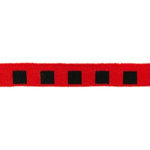 Mini Cuff Quadrat, schwarz/rot