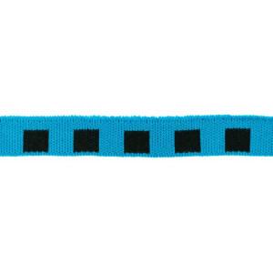 Mini Cuff Quadrat, schwarz/blaupetrol