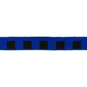 Mini Cuff Quadrat, schwarz/kobaltblau