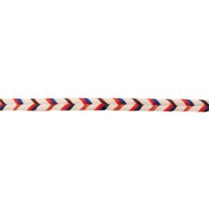 Kordel Multi Fischgrät, natur/rot/schwarz