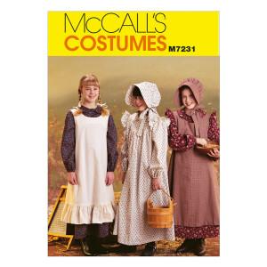 Mädchen Historisches Kostüm, McCalls 7231