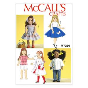 Puppenkleidung, McCalls 7266 Gr. Alle Größen