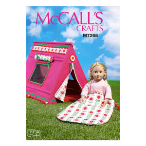 Puppenkleidung, McCalls 7268 Gr. Alle Größen