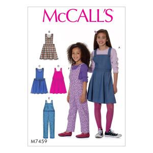Mädchen Kleid Latzhose, McCalls 7459