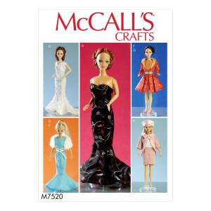 Puppen Kleid, McCalls 7520 Gr. Alle Größen