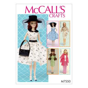 Puppenkleidung, McCalls 7550 Gr. Alle Größen