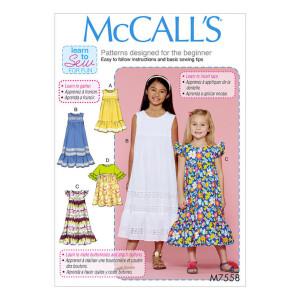 Mädchen Kleid, McCalls 7558