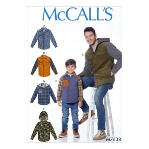 Herren/Jungs Jacke mit Kapuzen, McCalls 7638