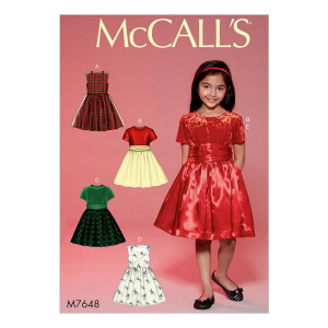 Mädchen Kleid mit Petticoat und Gürtel, McCalls...