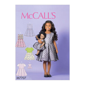 Kleid für Mädchen und Puppe, McCalls 7707