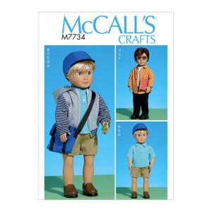 Komplettes Outfit für eine Puppe, McCalls 7734 Gr....