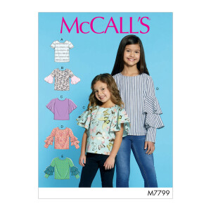 Mädchen Tops, McCalls 7799