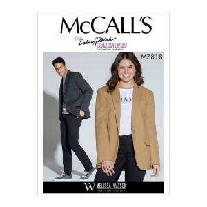 Elegante Jacke für Damen und Herren, McCalls 7818
