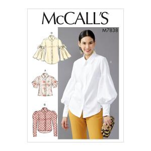 Vielseitige Damen Bluse, McCalls 7838 Gr. 32-40