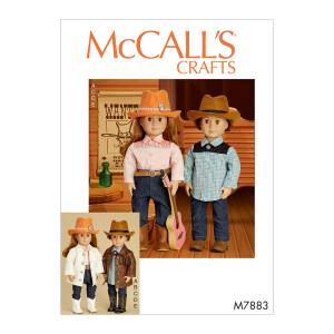 Cowboy Outfit für Puppen, McCalls 7883 Gr. Alle...