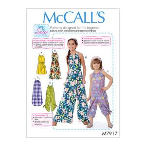 Mädchen Jumpsuits, McCalls 7917