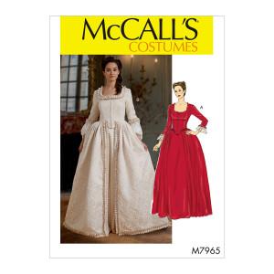 Historisches Damenkleid, McCalls 7965