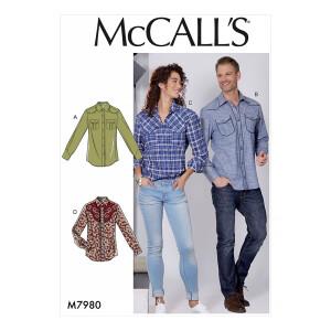 Hemd für Sie und Ihn, McCalls 7980